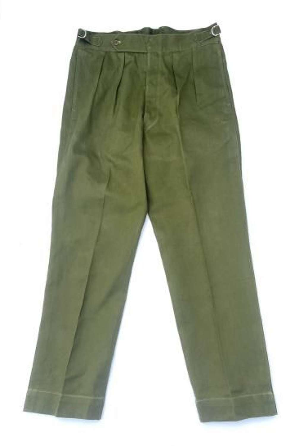 Original 1950s Theatre Made British Army Officers Jungle Green Trousers