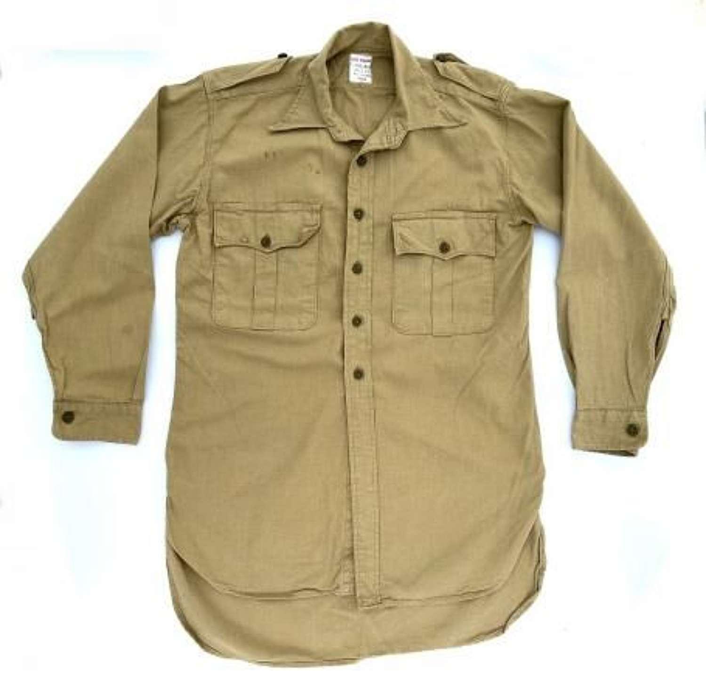 Original 1964 Dated British Khaki Drill Shirt - Size 15