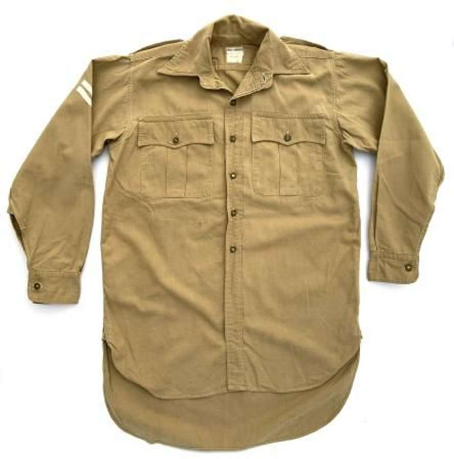 Original 1956 Dated British Khaki Drill Shirt - Size 14