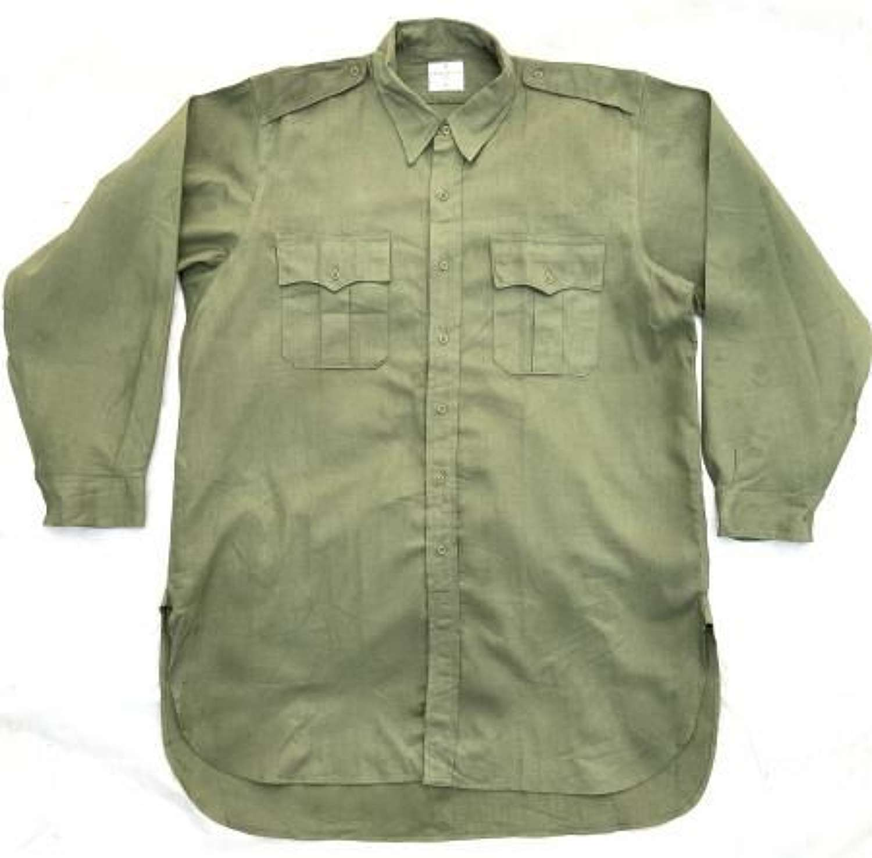 Original 1966 Dated British Army Jungle Green Shirt - Size 17