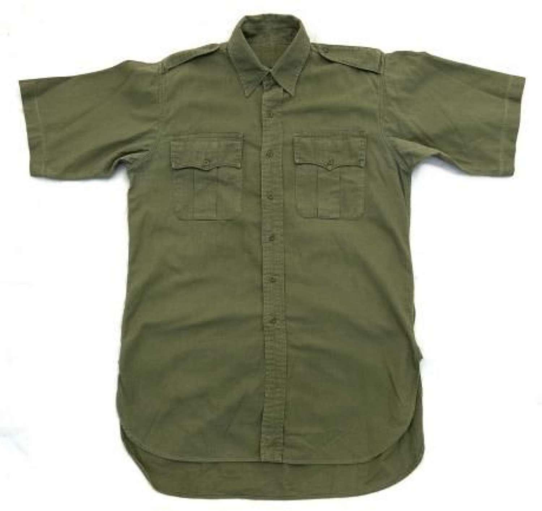 Original 1960s British Army Jungle Green Aertex Shirt
