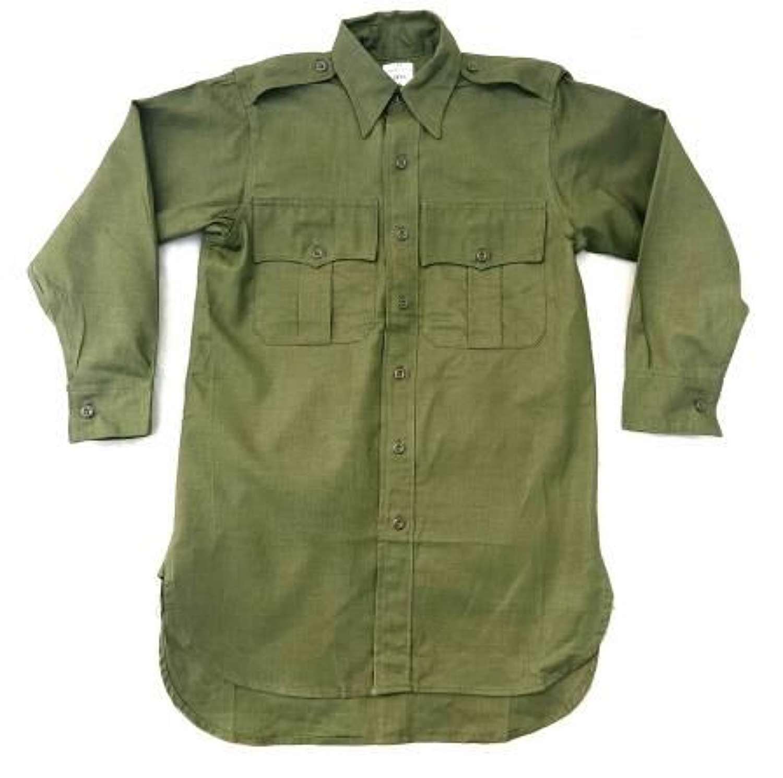 Original 1965 Dated Jungle Green Aertex Shirt - Size 13