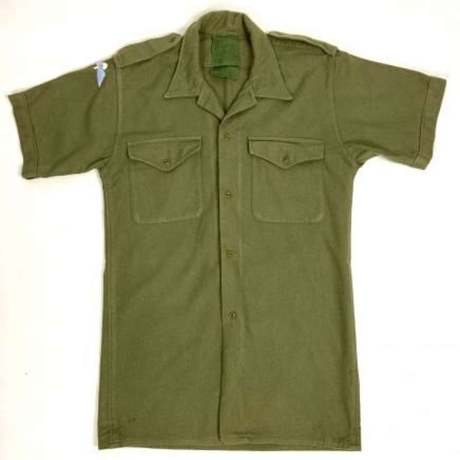 Original 1970s British Army Shirt with Parachute Qualification Wing