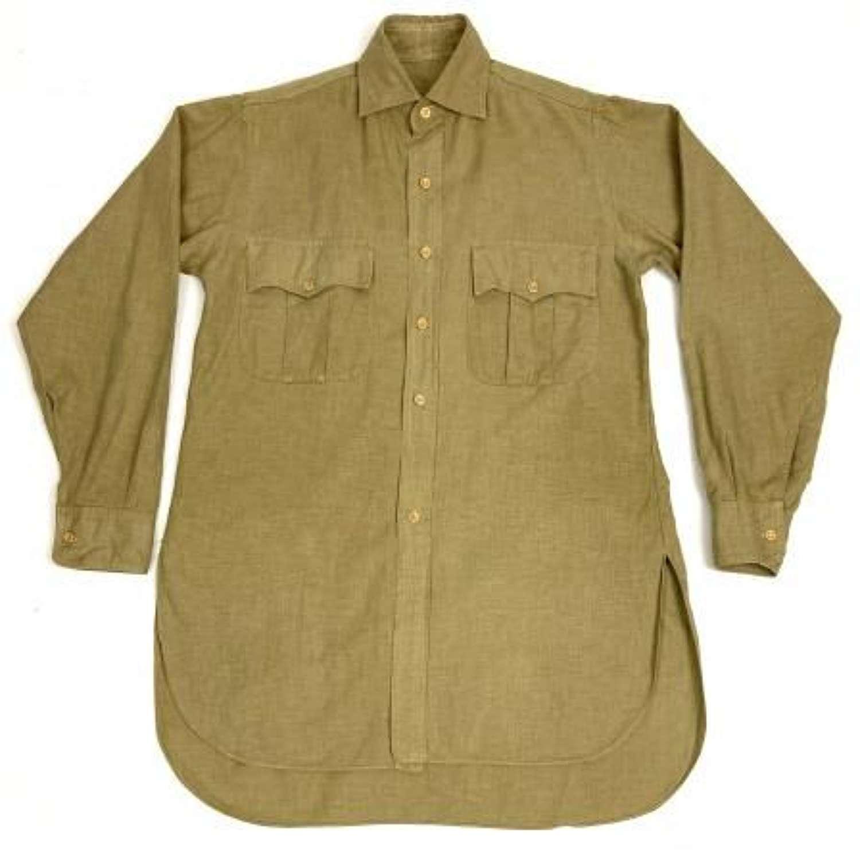 Original 1960s British Khaki Drill Aertex Shirt