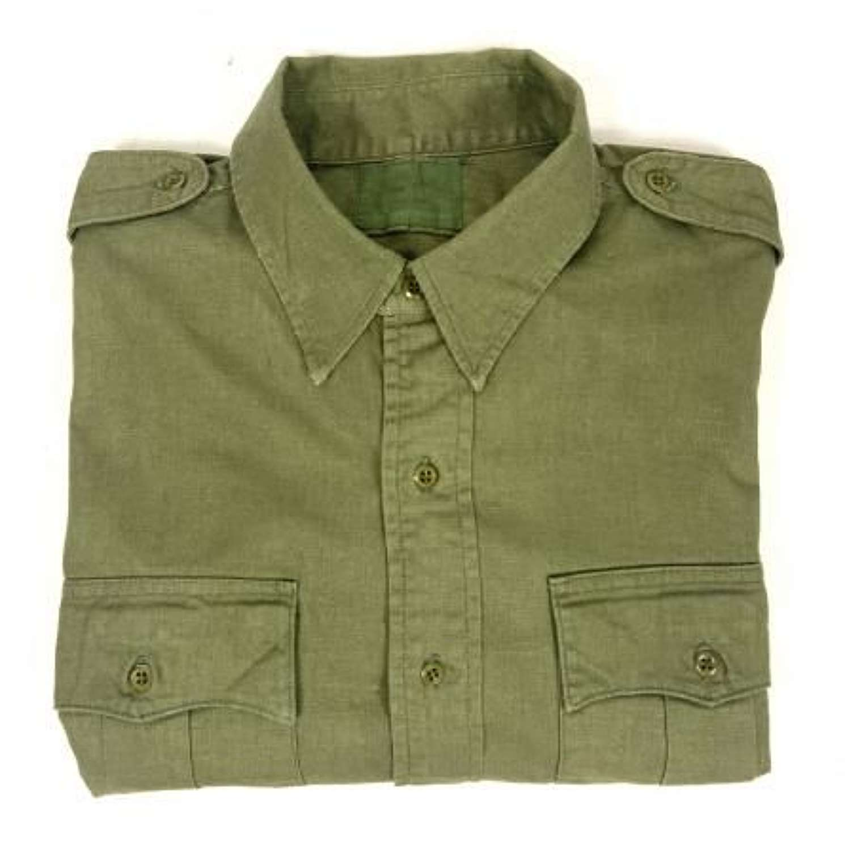 Original 1950s British Jungle Green Aertex Shirt (1)