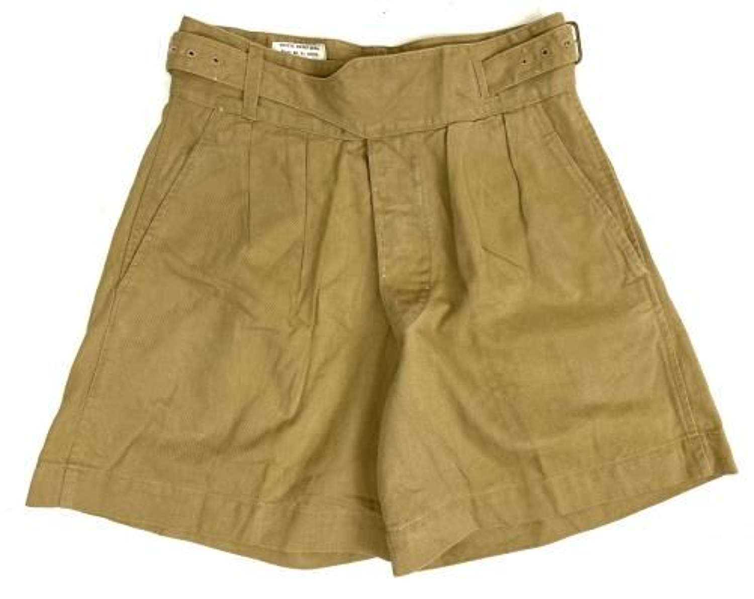 Original 1965 Dated Khaki Drill Shorts - Size 5