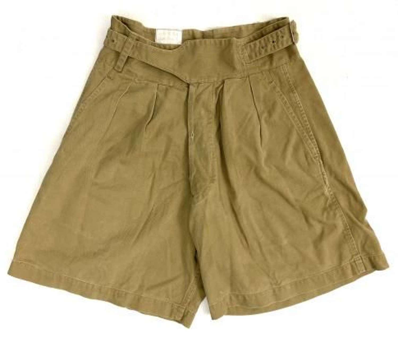 Original 1950 Pattern Khaki Drill Shorts - Size 7