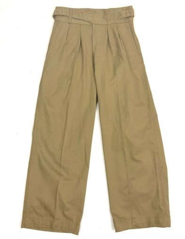 Original 1964 Dated British Army Khaki Drill Trousers