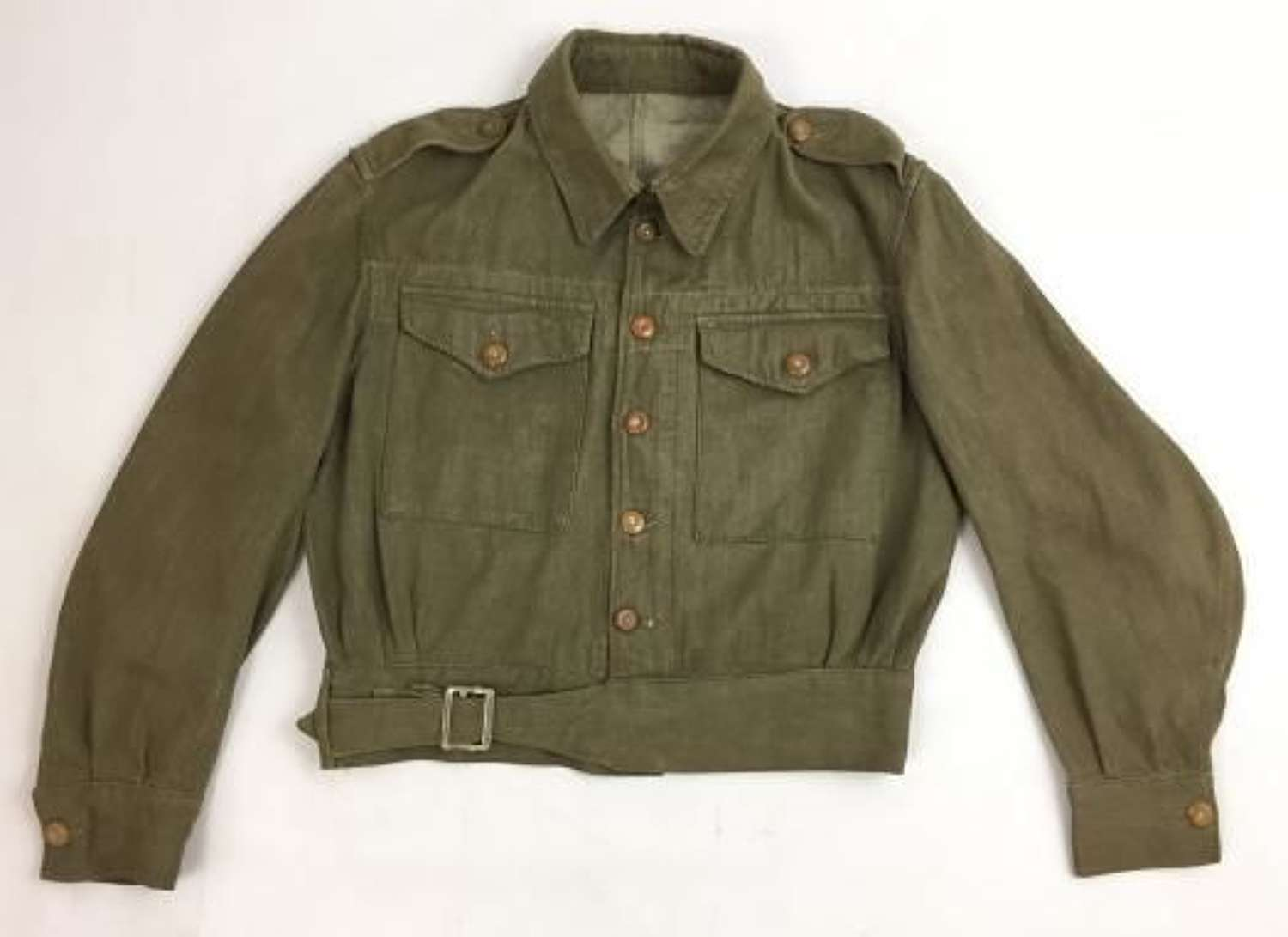 Original 1952 Dated British Army Denim Blouse - Size No.4