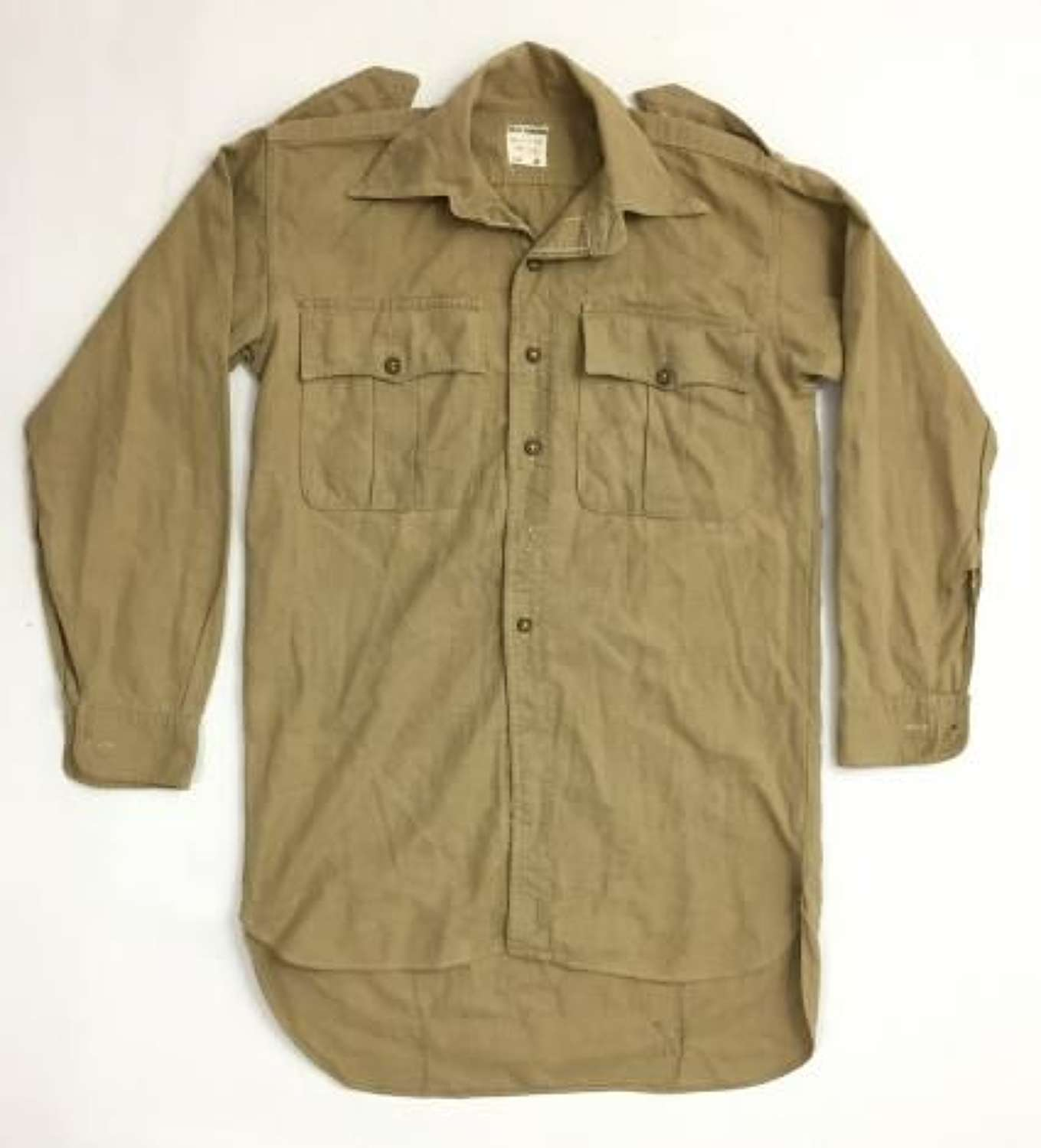 Original 1956 Dated British Army Khaki Drill Shirt