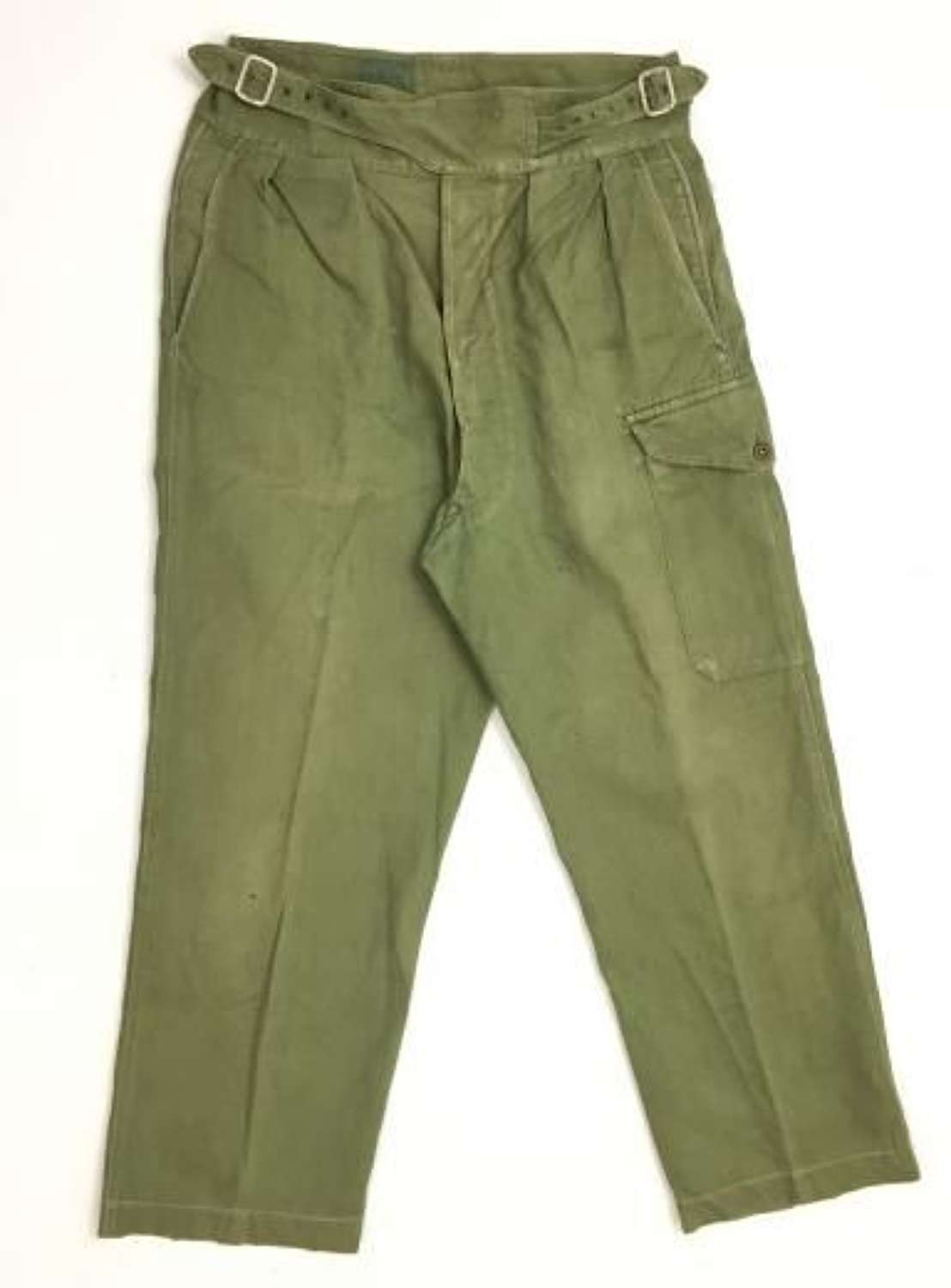 Original 1955 Dated 'Trousers, Drill Green' 1950 Pattern