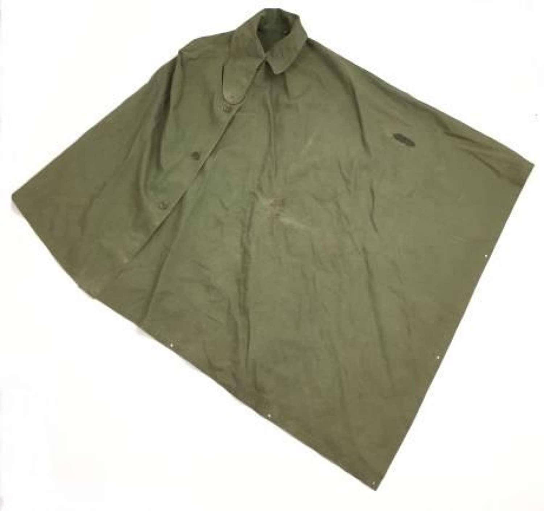 Original 1952 Dated British Army Rain Cape Groundsheet