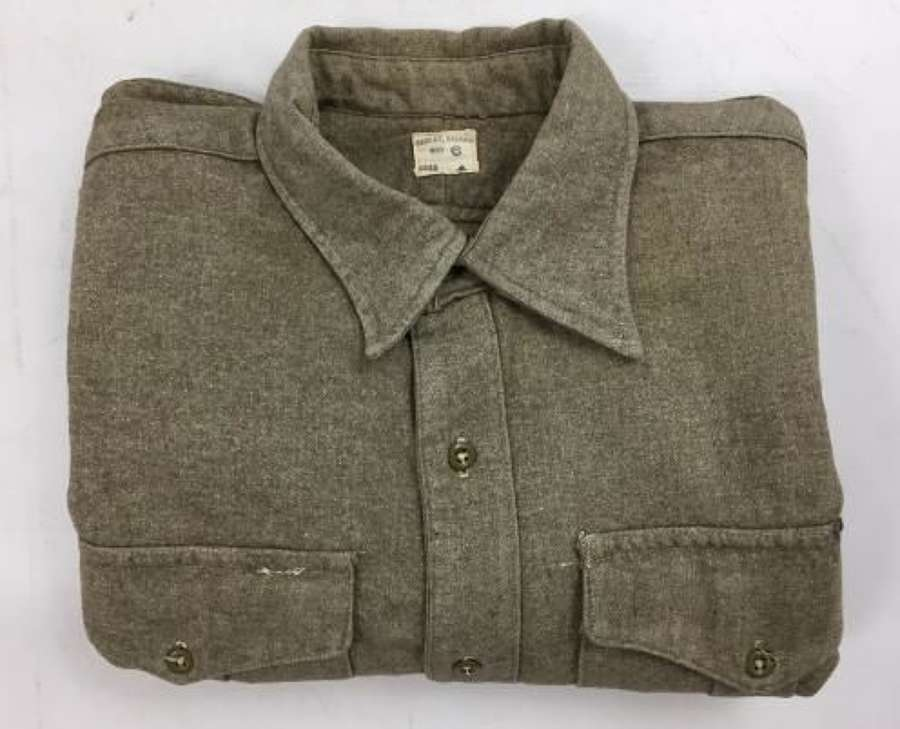 1955 Dated British Army Other Ranks Shirt - Large Size
