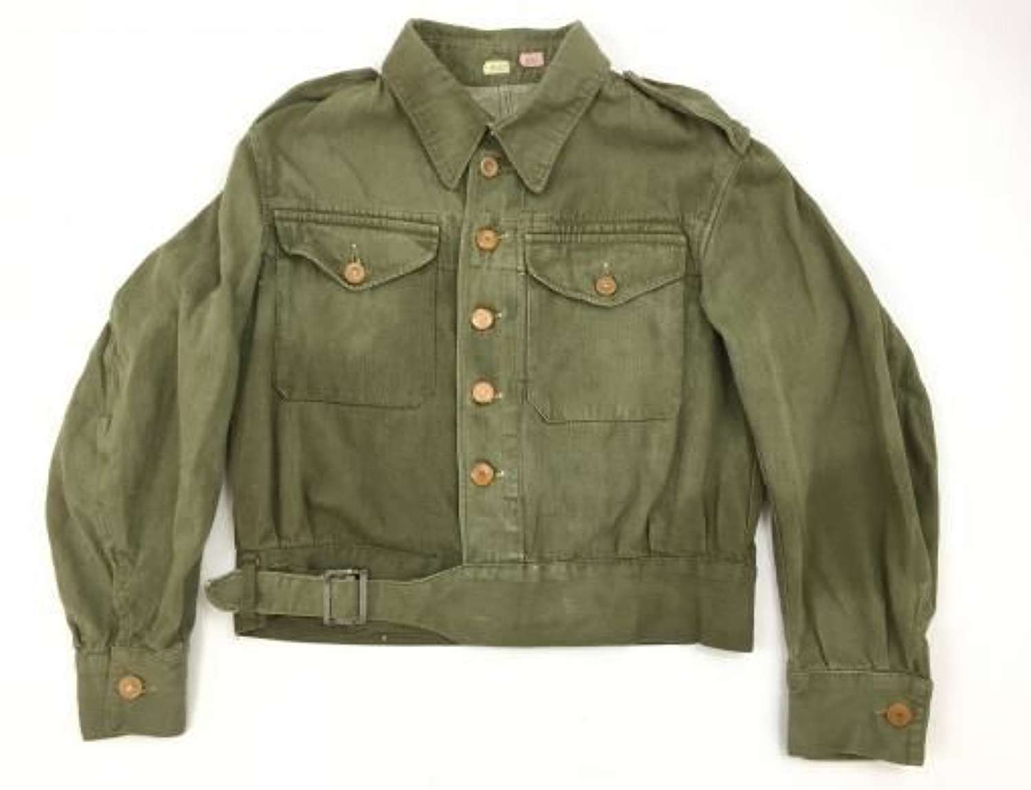 1955 Dated British Army Denim Battledress Blouse - Size 4