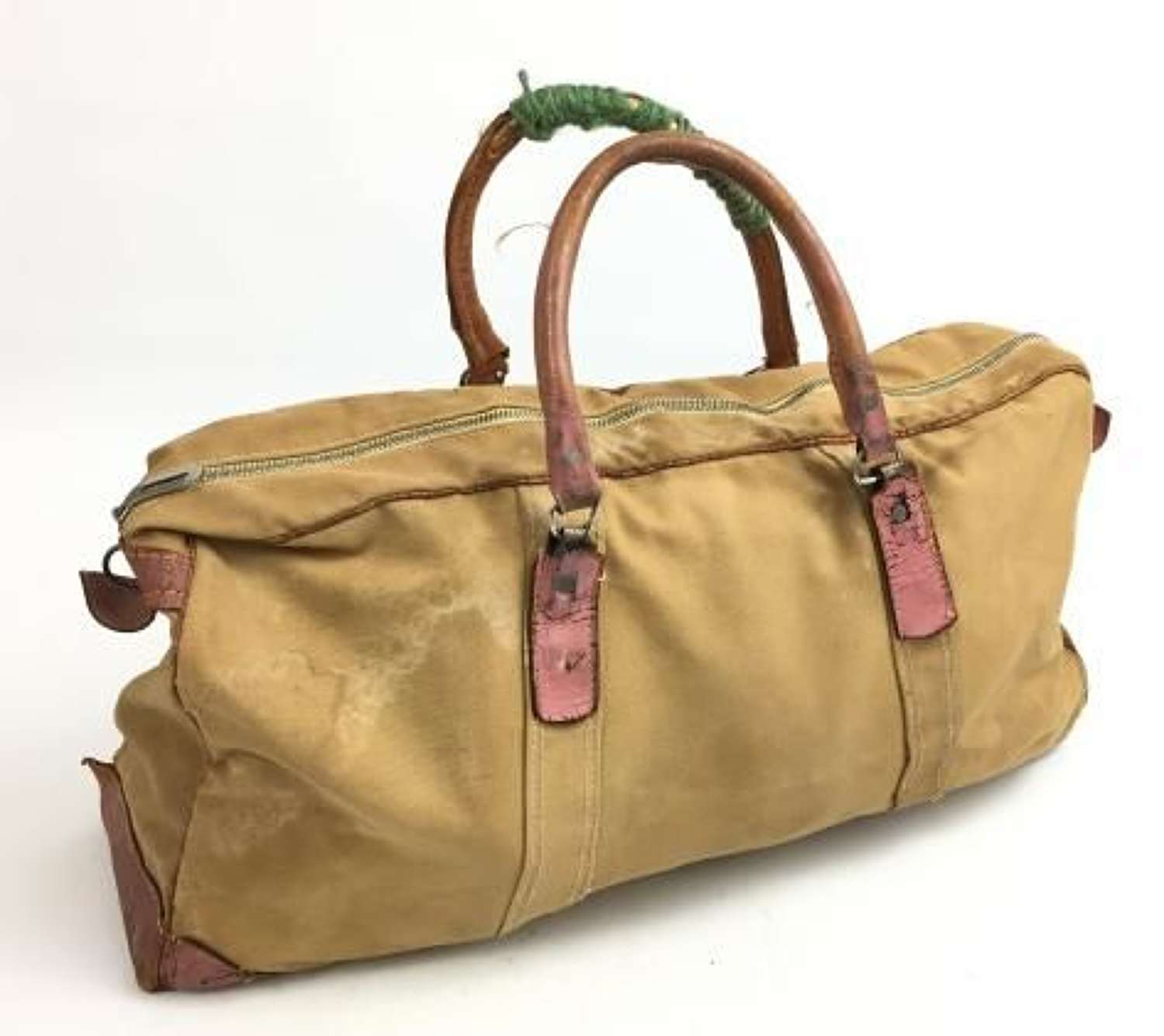 1951 Dated British Officers Canvas Holdall Grip Bag