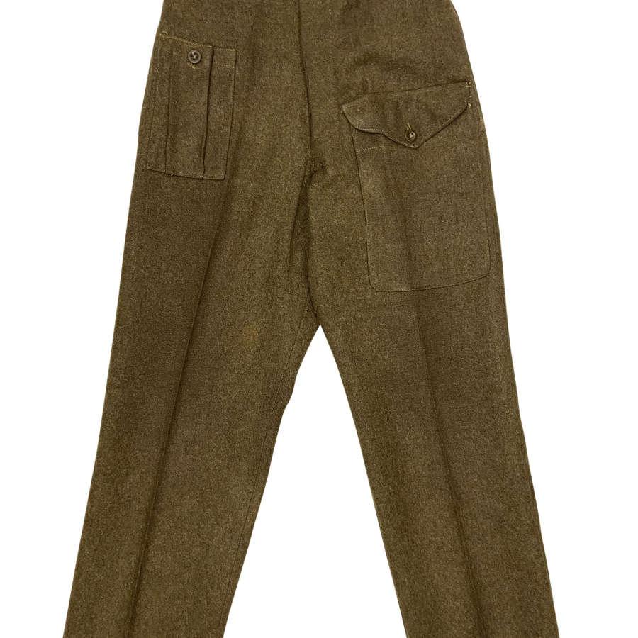 Original 1946 Pattern Battledress Trousers Dated 1947 Size 1