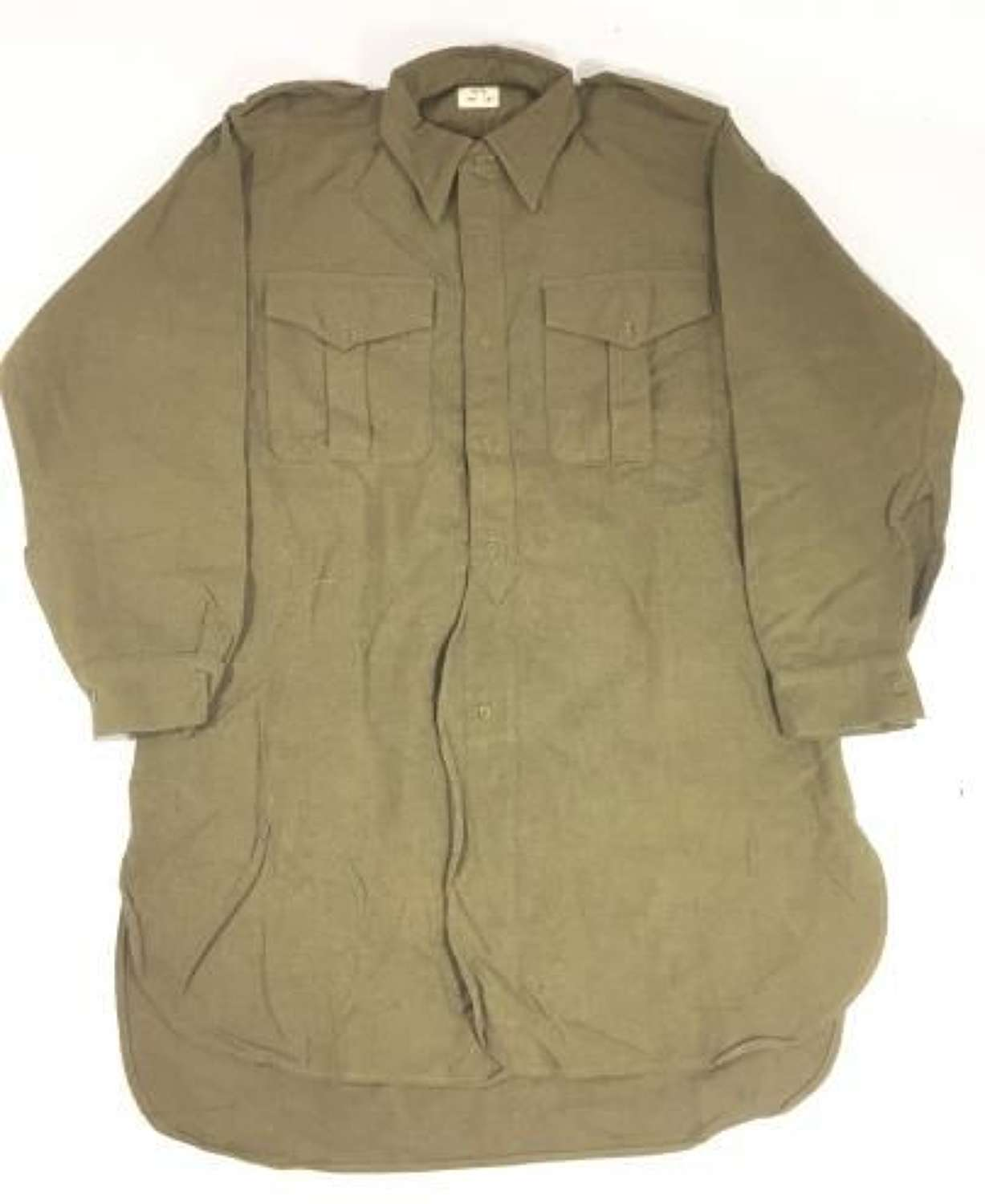 1952 Dated British Army OR Shirt - Large Size No.6