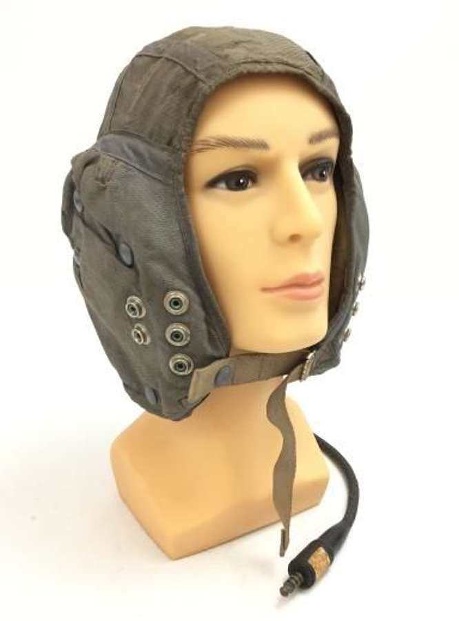 1966 Dated RAF G Type Cloth Flying Helmet - Size 4
