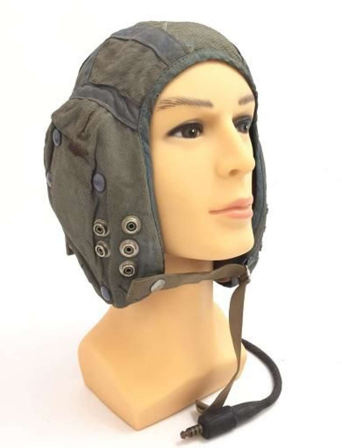 1957 Dated RAF G Type Cloth Flying Helmet - Fully Wired