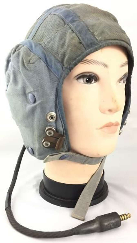 Original 1966 Dated RAF G Type Flying Helmet - Large Size 4 + Battle of Britain History
