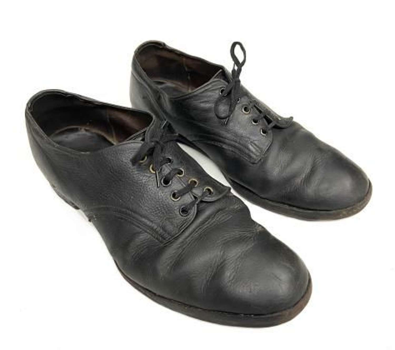 Original 1948 Dated RAF Ordinary Airman's Black Shoes - Size 9