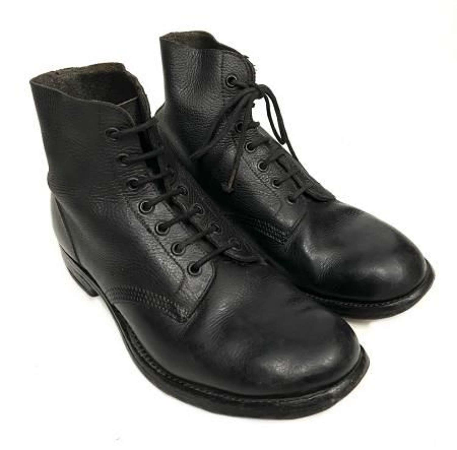 Original 1948 Dated RAF Ordinary Airman's Black Ankle Boots - Size 8