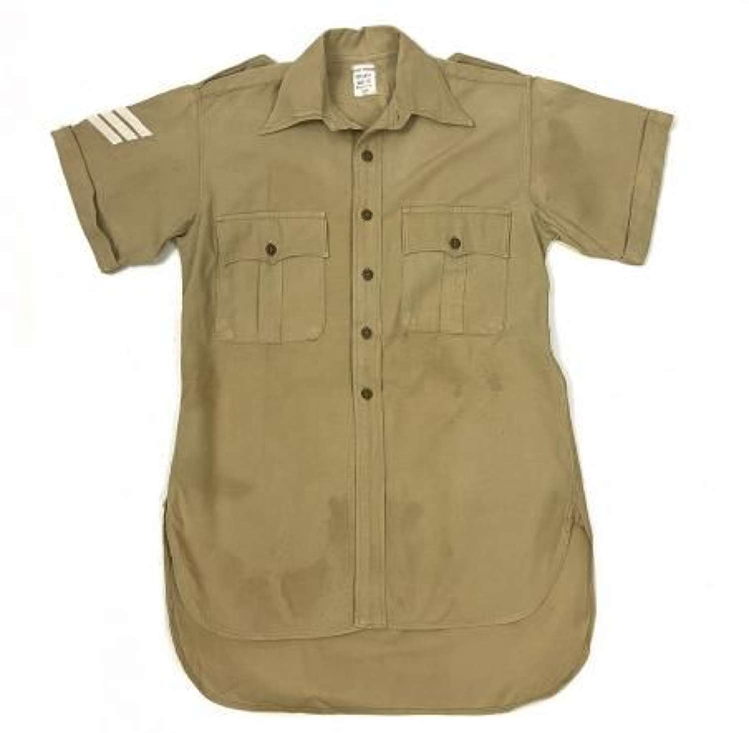 Original 1954 Dated British Army Khaki Drill Aertex Shirt