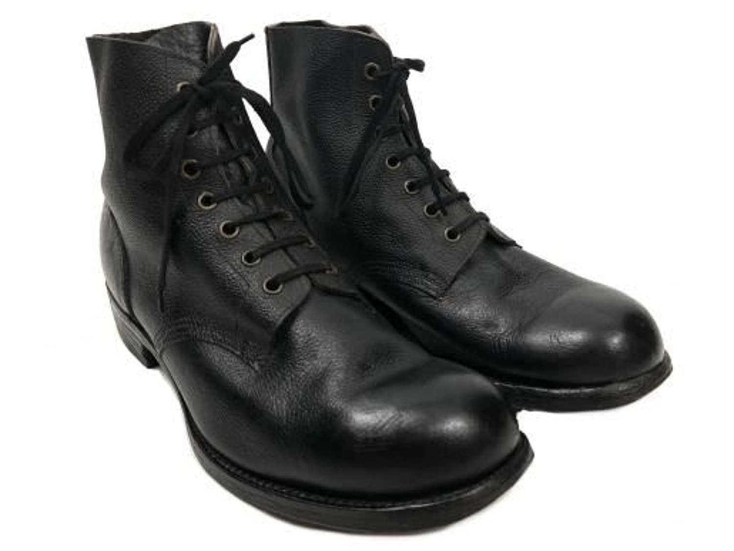 Original 1948 Dated RAF Ordinary Airman's Black Ankle Boots - Size 7