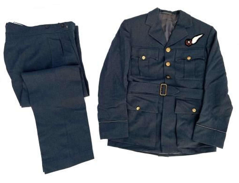 Original 1953 Dated RAF Pilot Officers Uniform with Navigator Brevet