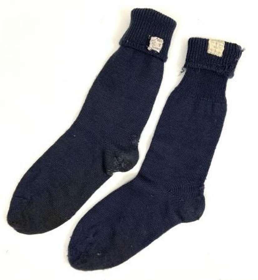 Original 1955 Dated RAF Ordinary Airman's Socks