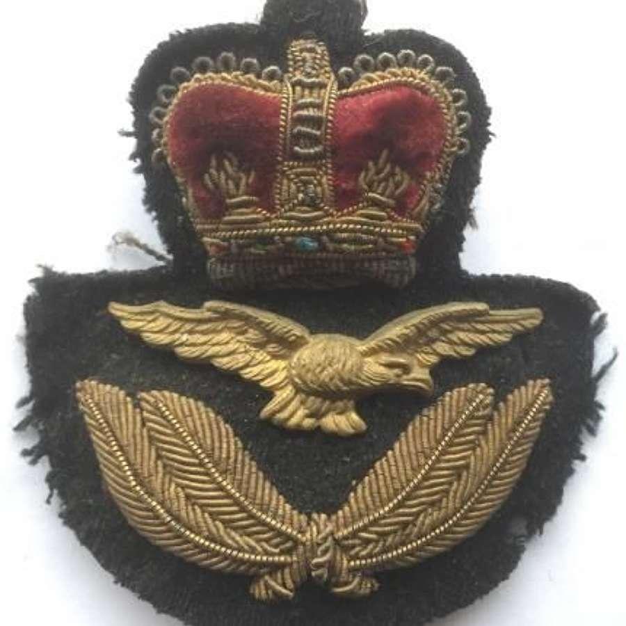 Original 1950s RAF Officers Cap Badge