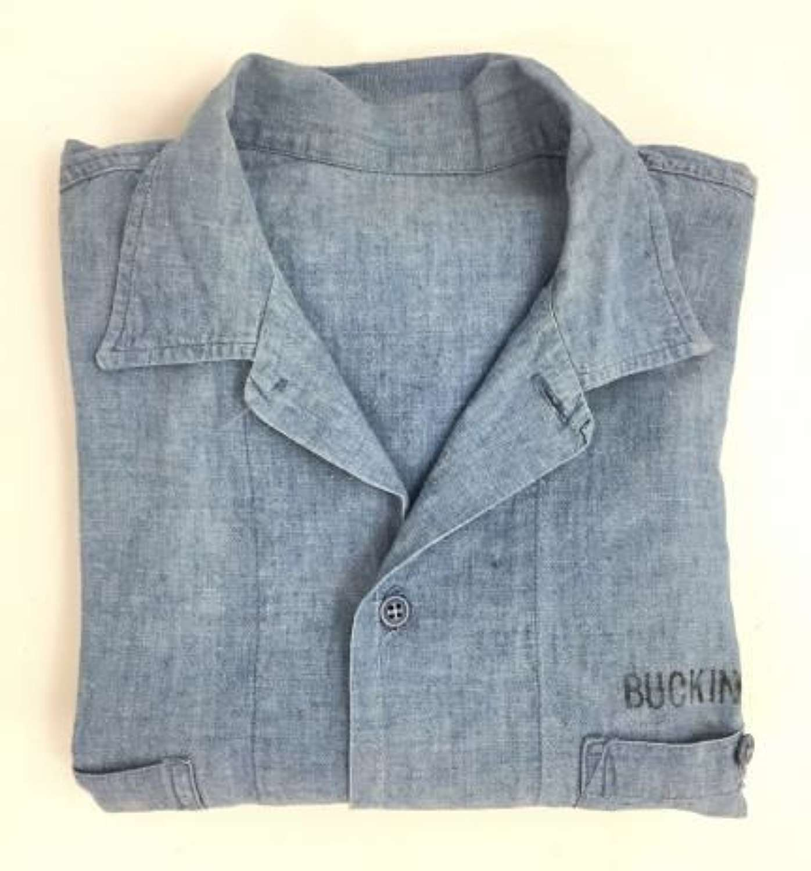Original 1950s US Navy Chambray Shirt