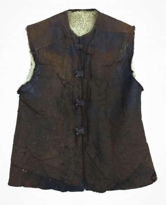 Original WW1 RFC RAF Sheepskin Lined Leather Jerkin