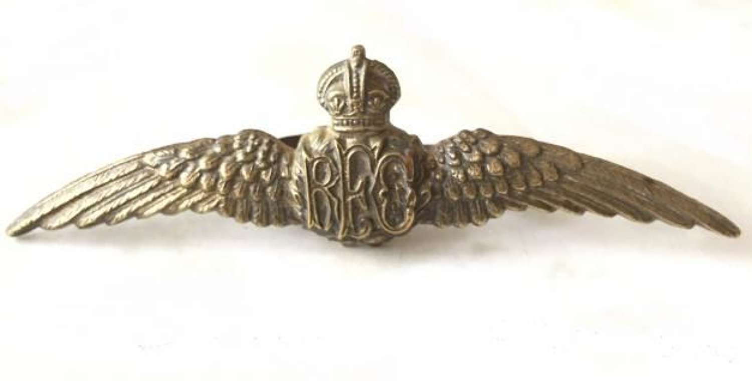 Royal Flying Corps Brass Pilots Wing
