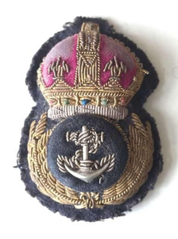 Original Pre 1953 Royal Navy Petty Officers Cap Badge