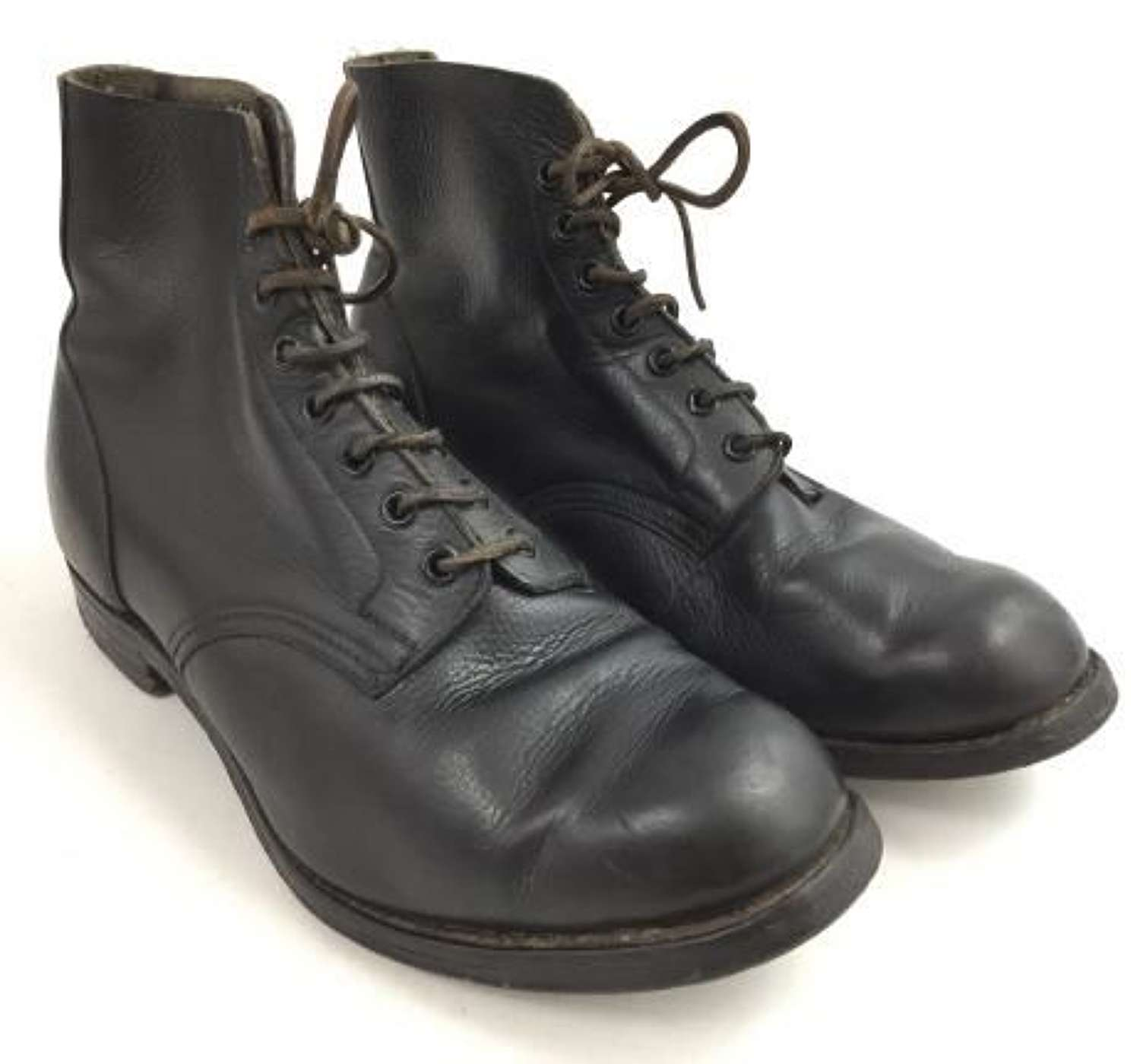 1945 Dated British Military Black Leather Boots by 'Wilson & Watson'