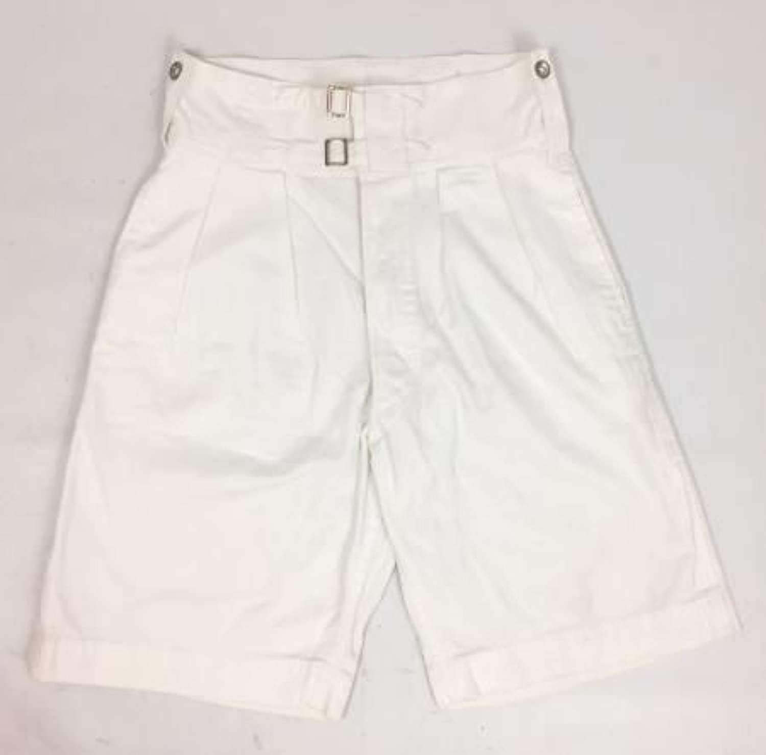 1943 Dated Royal Navy White Shorts by 'Harrods'
