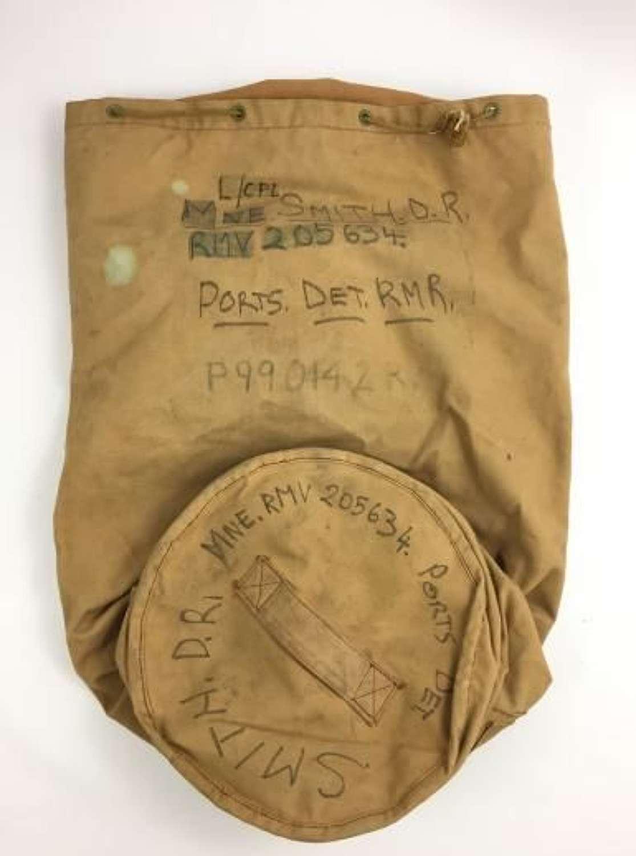 1954 Dated Royal Navy Khaki Kit Bag