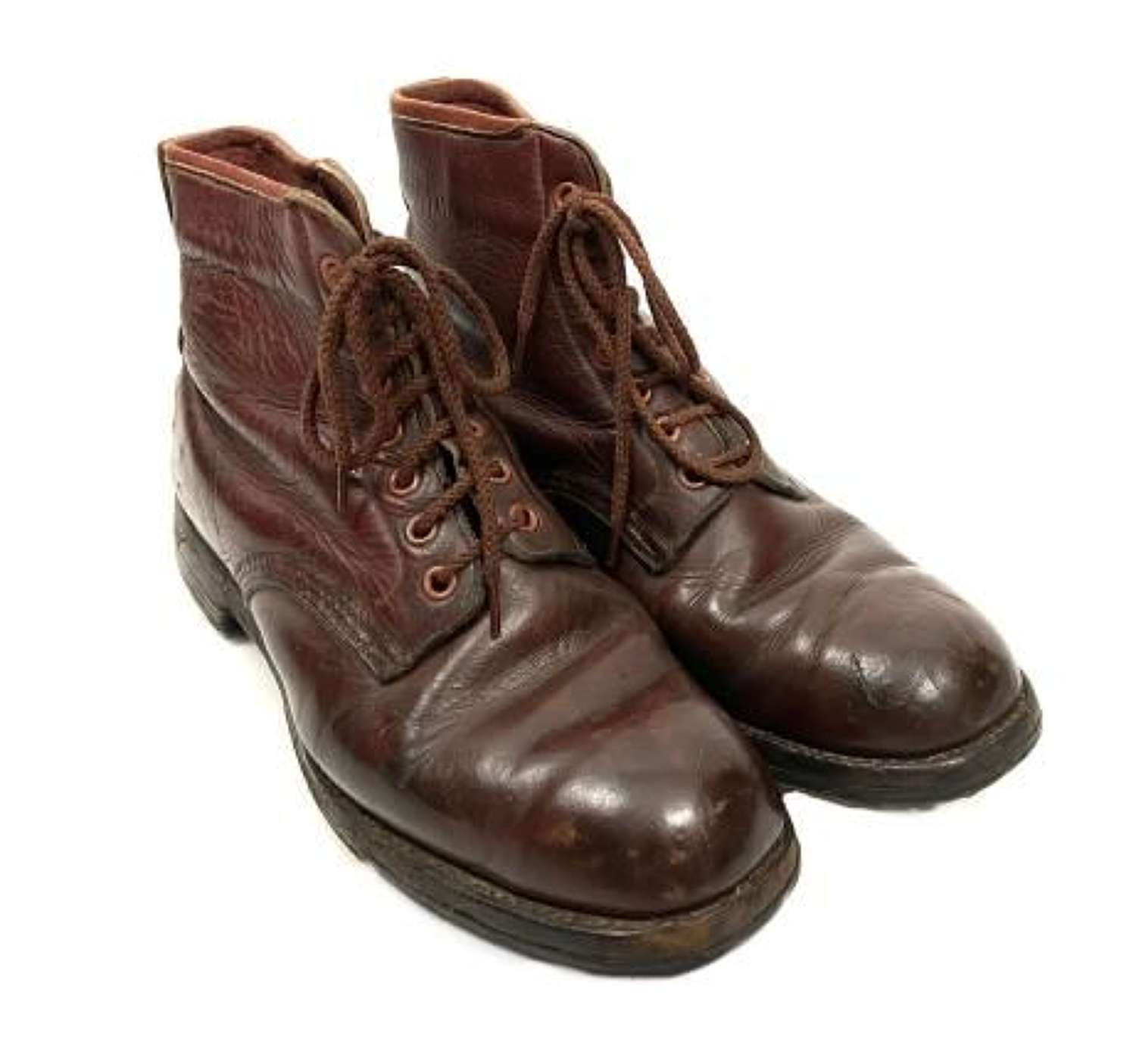 Original 1950s Brown British Made Ankle Boots