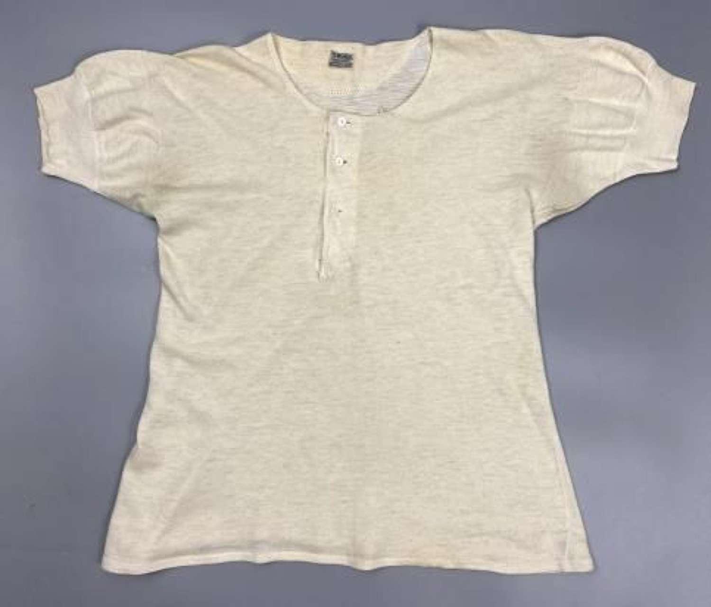 Original 1940s Men's Undershirt by 'St Michael' - Size Large