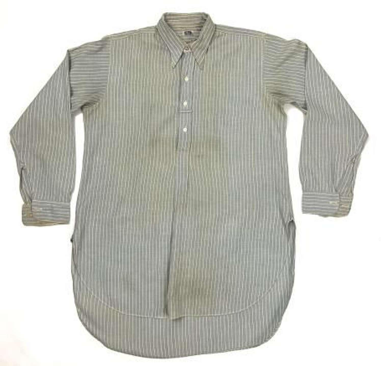 Original 1940s British Made Men's Collared Shirt by 'McLaren'