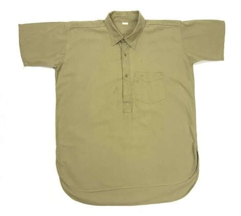Original 1950s British Khaki Cotton Work Shirt