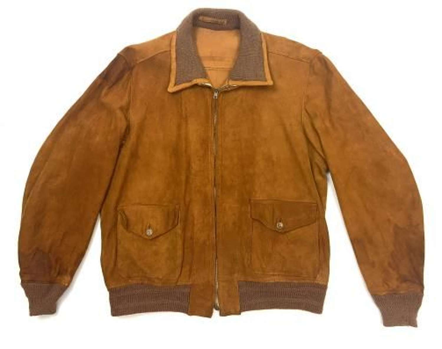 Rare original 1930 Dated Men's Suede Zip Sports Jacket