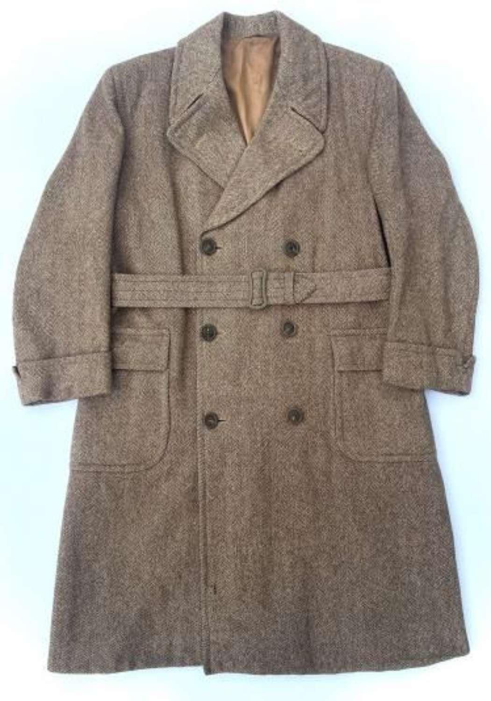 Original 1940s Men's Overcoat by 'A Carlington Coat'