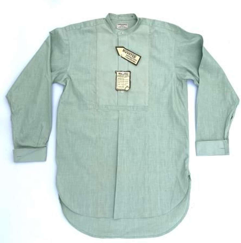 Original 1930s Men's Mint Green Collarless Shirt by 'Nuvotex'