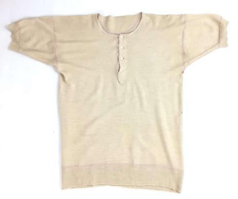 Original 1940s Three Button Undershirt - Medium