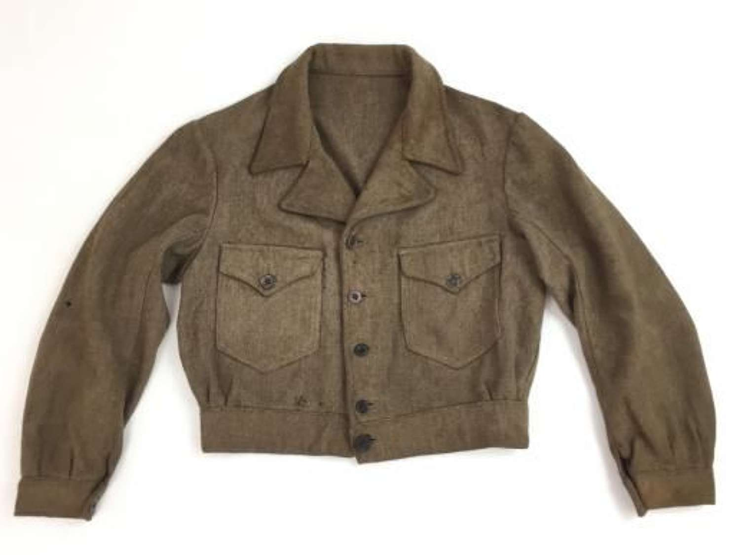 Original 1940s French Military Issue Wool Cyclist Jacket