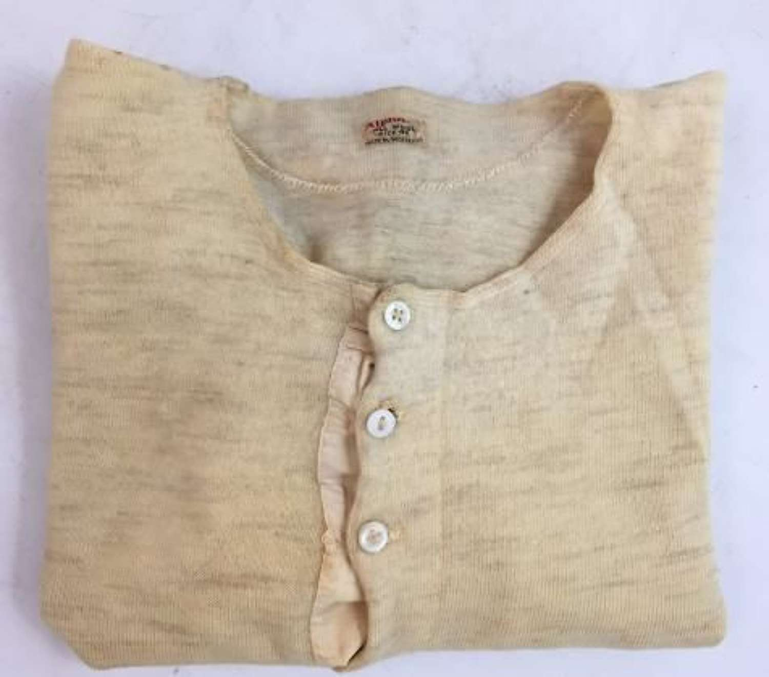 Original 1940s Men's Undershirt by 'Alpha' - Size 40 (2)