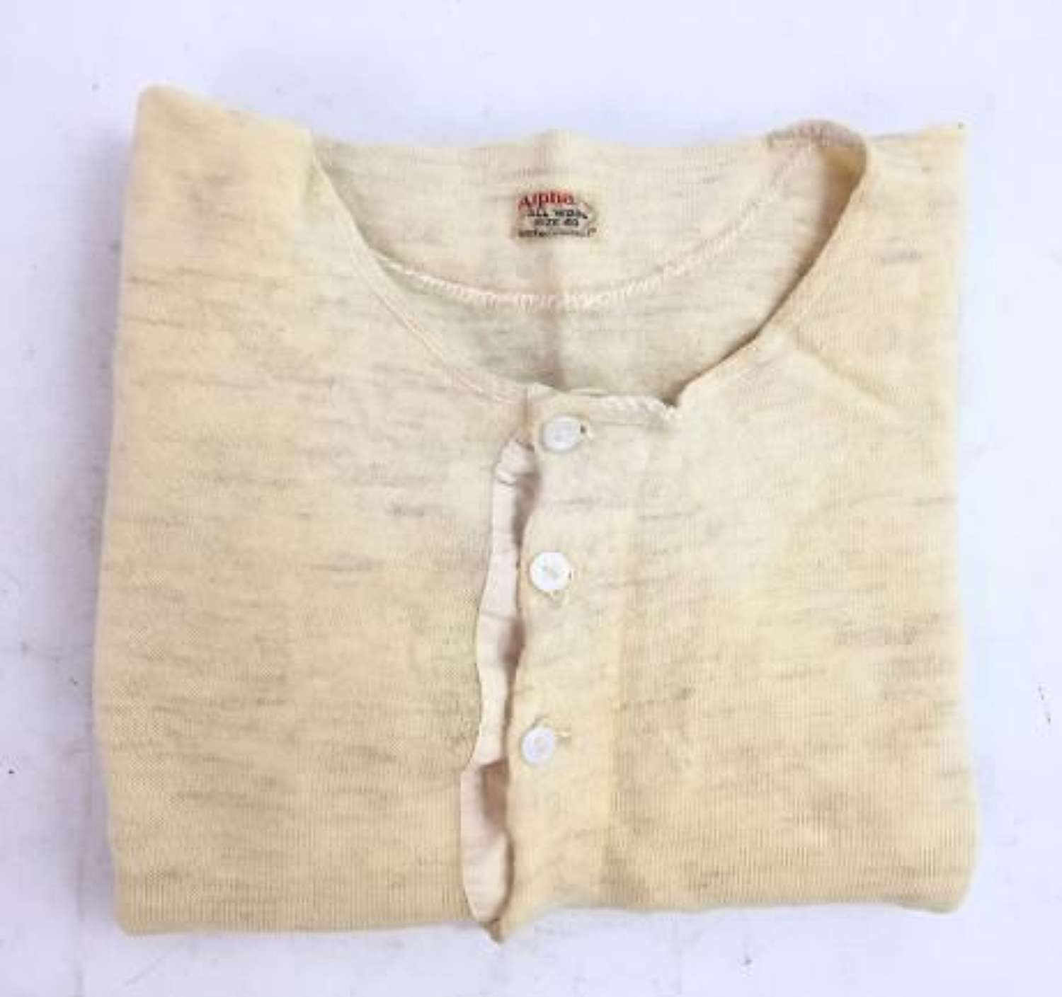 Original 1940s Men's Undershirt by 'Alpha' - Size 40 (1)