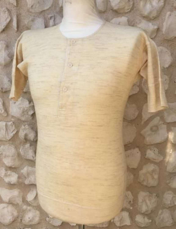 1940s 'Shamrock' Brand Woll Three Button Undershirt